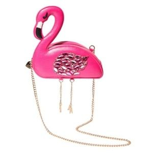 Betsey Johnson KITSCH FLAMINGO CROSSBODY